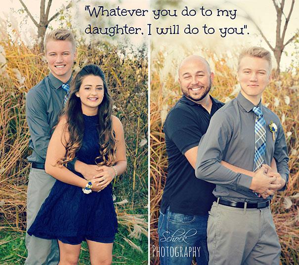 Когда отец не хочет отпускать дочь на свидание, он готов на все. 10 забавных фотоисторий