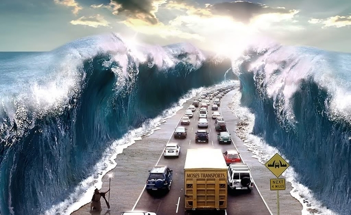 Моисеево чудо на острове Чиндо! А вы видели эту легенду вживую?