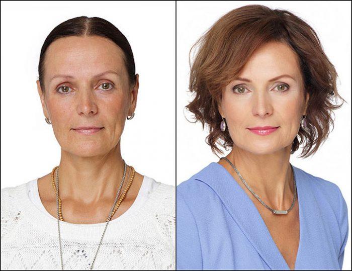 Пятнадцать фотографий женщин до и после преображения стилиста